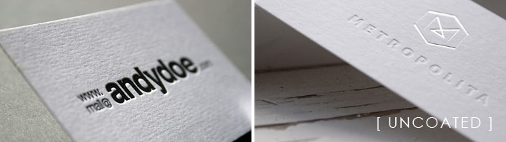 Brand expectations what you need to know about paper uncoated business cards reheart Choice Image